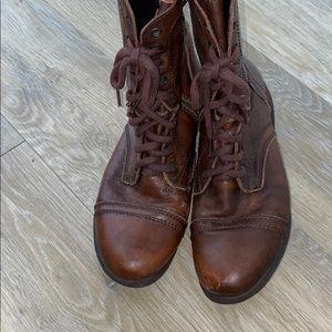Super cute reddish brown combat boots